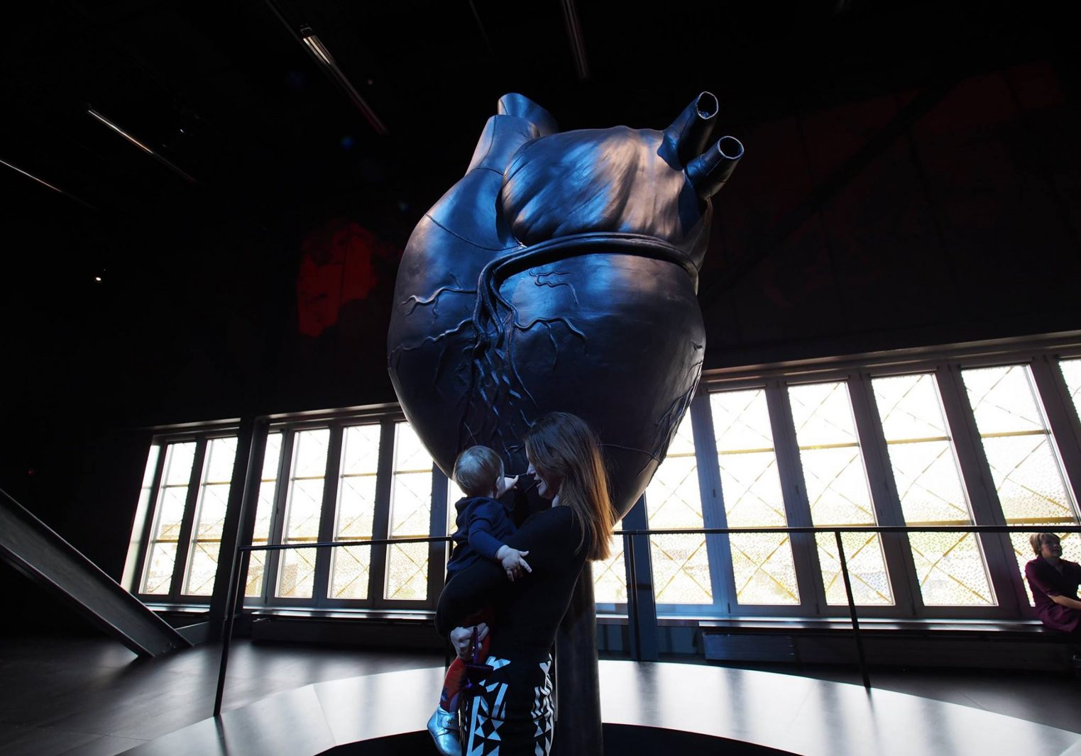 Leather Heart Sculpture for Ragnarock Museum. Concept and art direction by HEAVY™