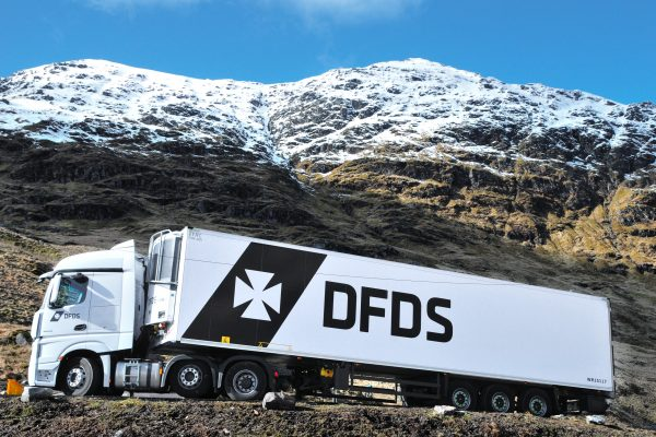 DFDS Truck with the new logo